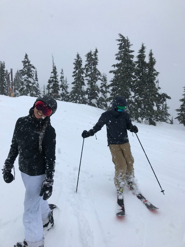 Eddie Bauer Microtherm 2.0 StormDown Jacket Review - skiing in Whistler