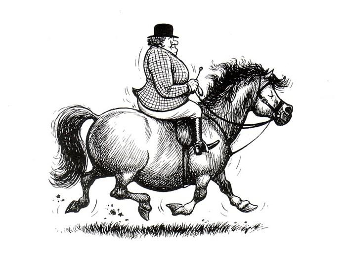 Should Fat People Ride Horses?