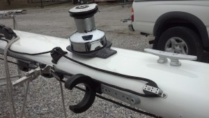 New Lewmar Evo Halyard Winches, Winch Bases. Track System for a On-the-mast Whisker Pole. Peterson 44