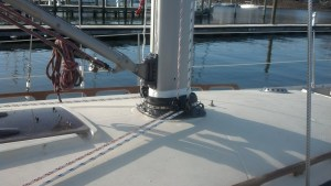 Another Beautifully Installed Boot and Mast Collar by The Rigging Company. Storm Tested and Not a Drop.