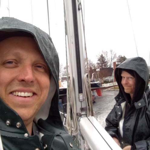 Jimmie Cockerill and Sean Simmons.....Workin' in the Rain!