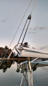 Oyster 485 with Some Running Rigging. Ready to go to the Islands before the big winter. Oyster 485