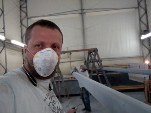How to paint a carbon fibre mast