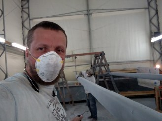 How to paint a carbon fibre mast