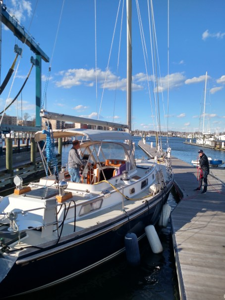 New Standing Rigging. New Chainplates. New Liflines. New Electrical. A rare Bristol 41.1 leaving the dock. Happy trails!!!