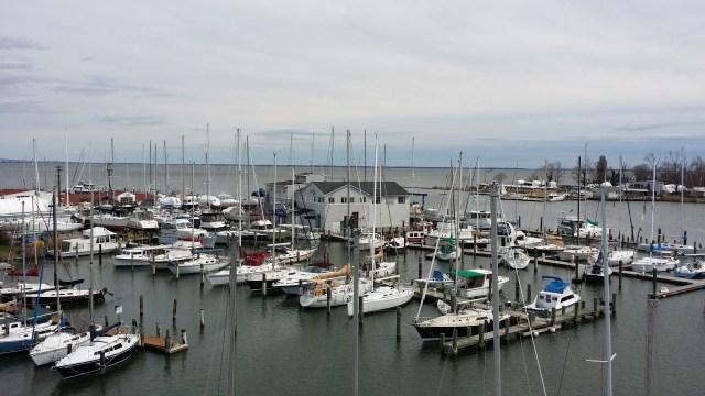 Eastport Yacht Yard from Aloft