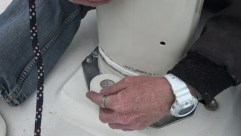 Sealing the partner. Mast boot. Deck ring.