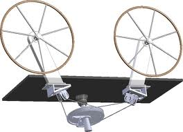 Idler sheaves, pulleys, chain and cable steering system, Edson