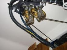 Idler Sheaves, Chain and cable sailboat steering system