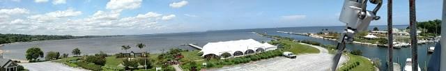 Chesapeake Bay from Friendship MD up the mast. Aloft