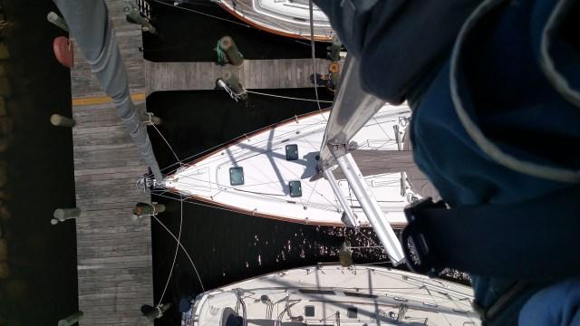 Beneteau 411 from aloft
