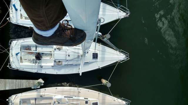 J105 view of the deck from the mast