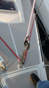 Synthetic inner forestay system.