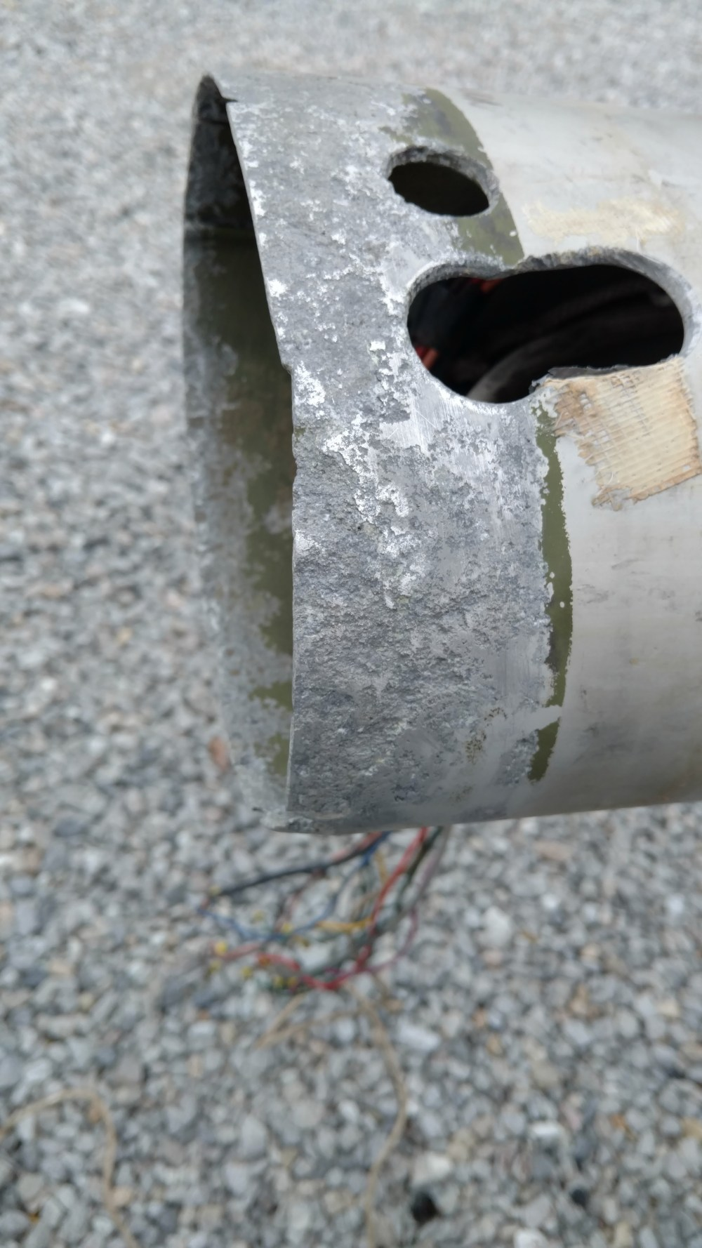 Annapolis, Maryland. Severely Corroded Mast Butt