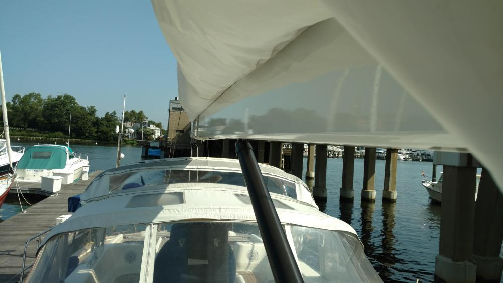 Bent Selden Masts boom. If a rigid vang is present, especially a hydraulic one, be mindful of your vang tension vs. your sheet tension orr you could have a bent boom. Discovery Yachts 56