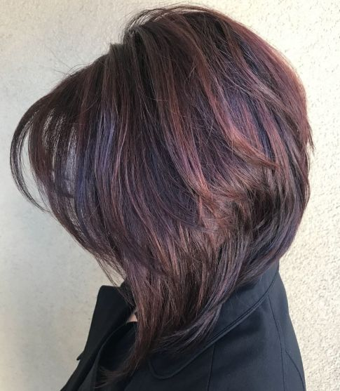Layered Inverted Bob For Thick Hair