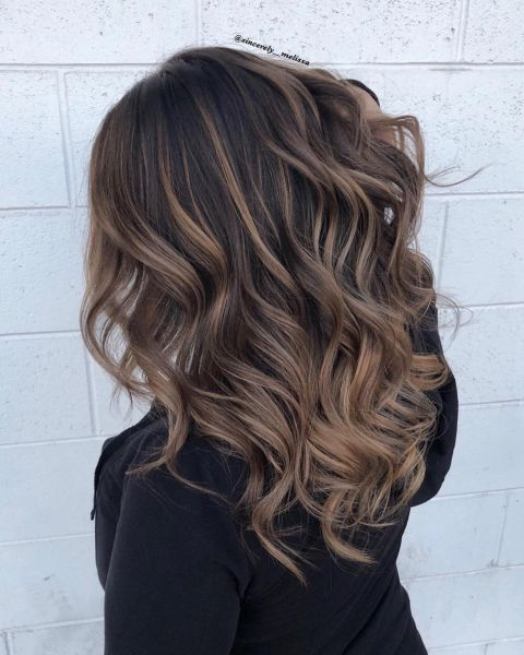 Brunette Hairstyle With Light Chocolate Highlights