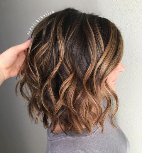 Dark Chocolate Hair with Caramel Balayage