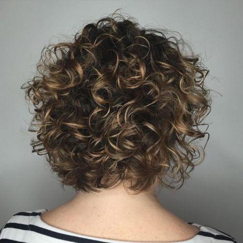 Medium Curly Bob With Subtle Highlights