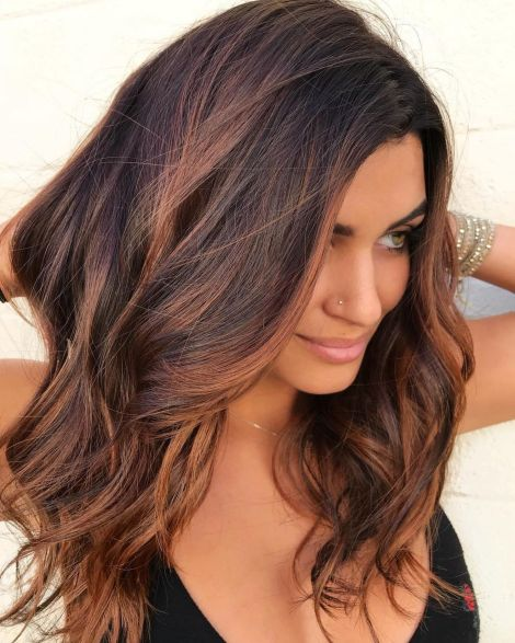 Caramel And Burgundy Hair Color
