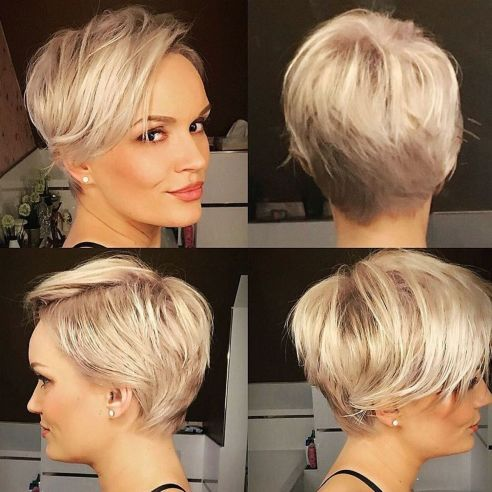 Short Feathered Pixie For Thin Hair