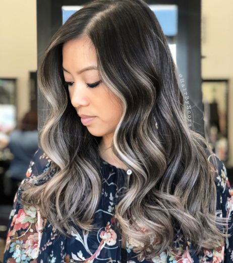 Gray Balayage For Brunettes