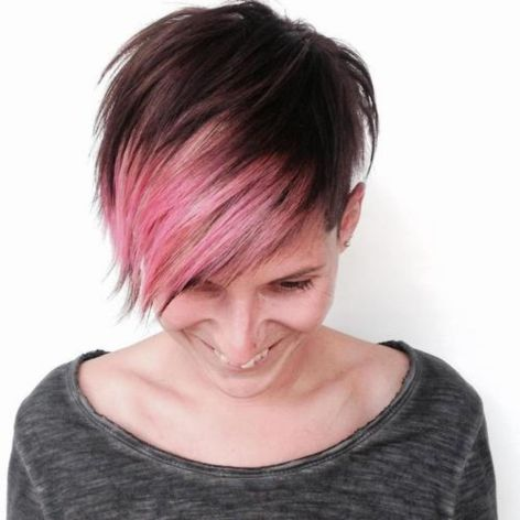 short funky hairstyle for thin hair