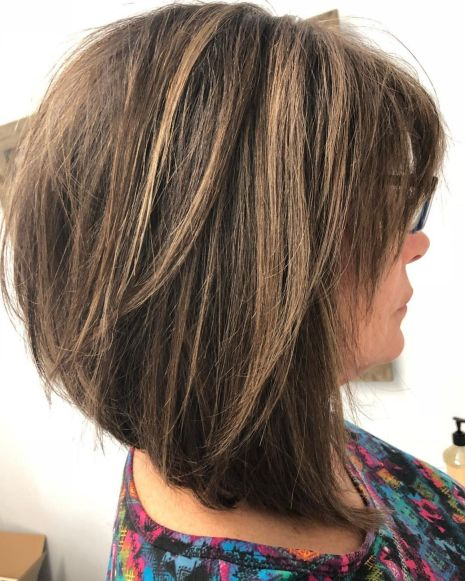 Messy Inverted Brown Lob