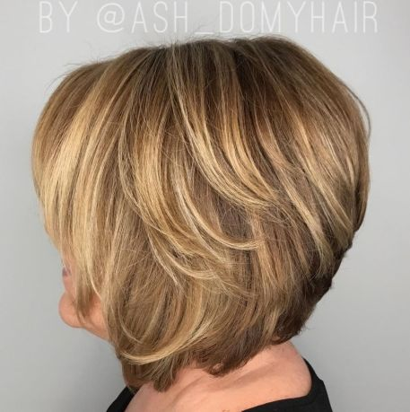 Bronde Layered Bob Over 60