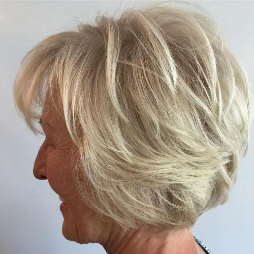Over Short Hairstyle With Bangs