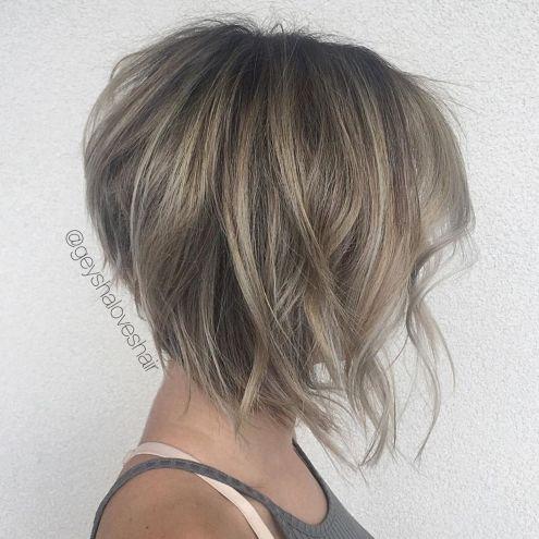 Tapered Inverted Bob Haircut