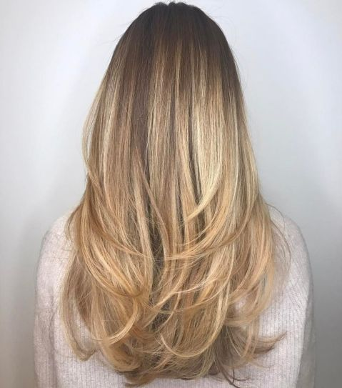 Long Haircut With Angled Layers