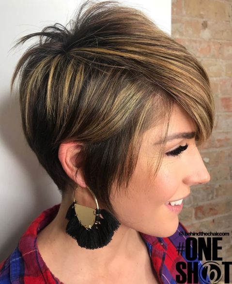 Long Pixie With Bangs And Sideburns