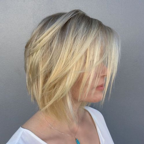 Sliced Blonde Bob