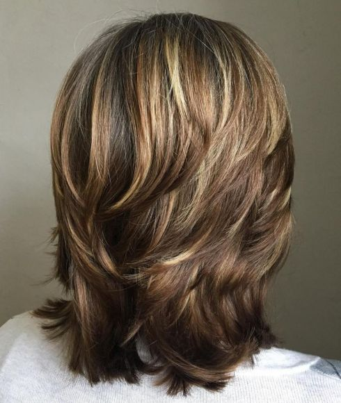 Medium Length Choppy Layered Hairstyle