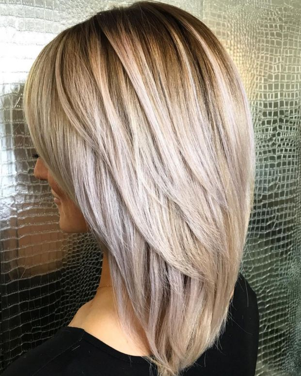 Medium Haircut With Chunky Layers, The V-Layered Haircut for Straight Hair
