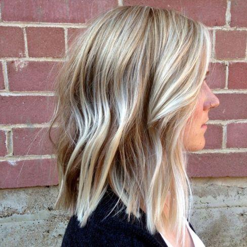 Medium Choppy Blonde Haircut For Thin Hair