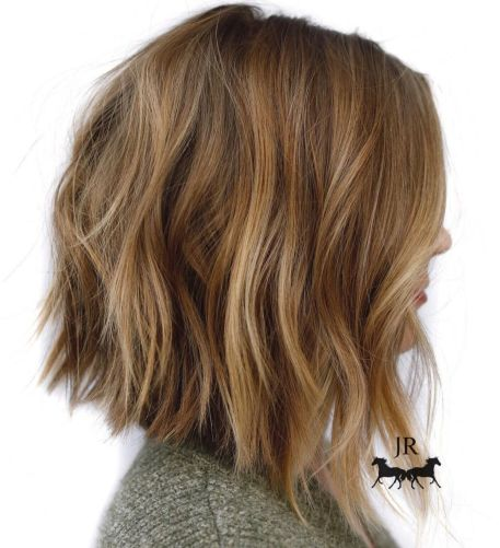 Angled Choppy Bob Cut