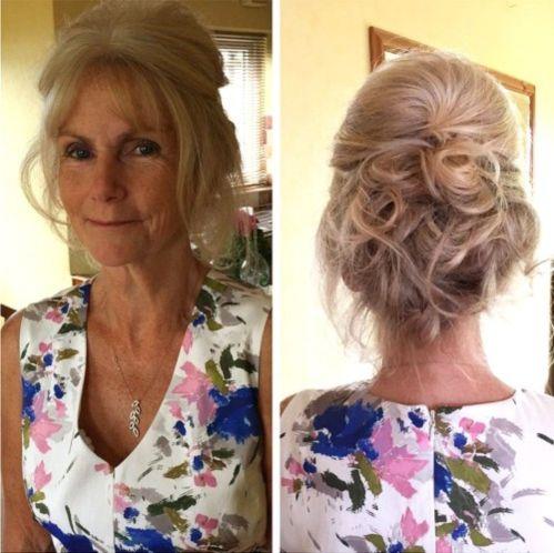 modern formal updo for older women