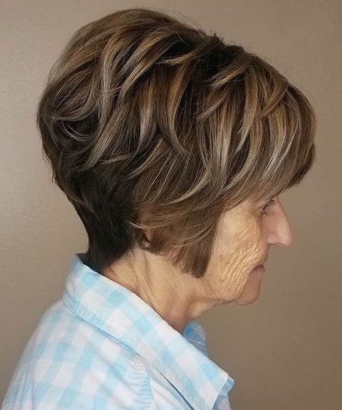 Over 70 Short Feathered  Haircut