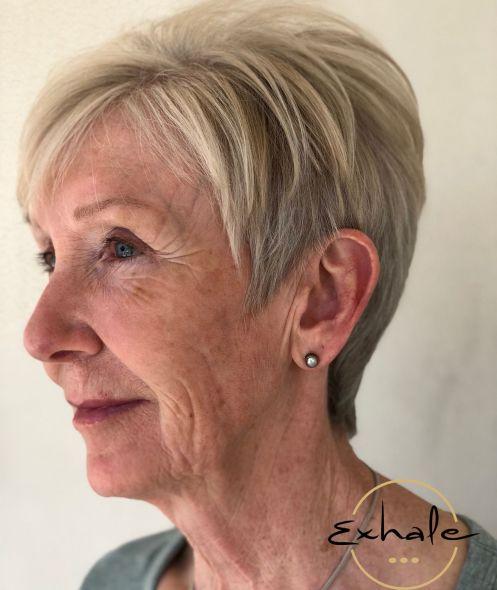 Blonde Pixie Cut for Older Women