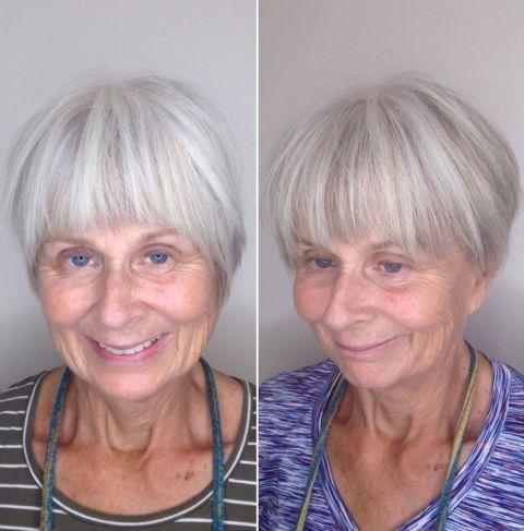 Choppy Short Haircut over 70