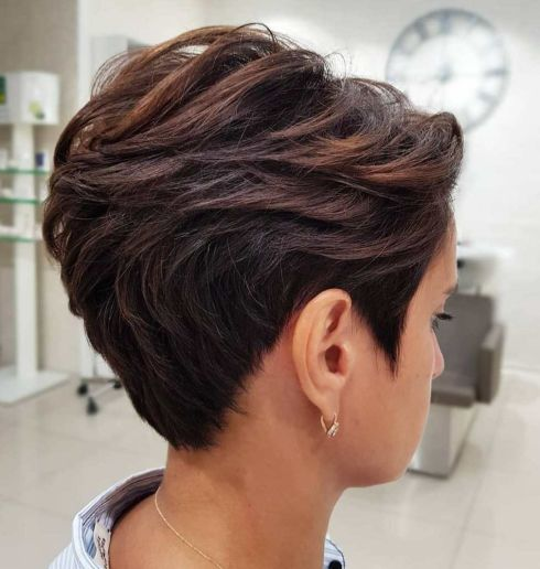 Layered Pixie Cut With Sideburns