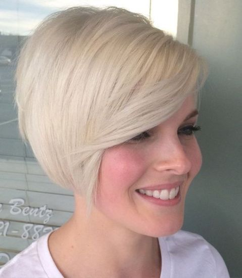 short blonde bob hairstyle