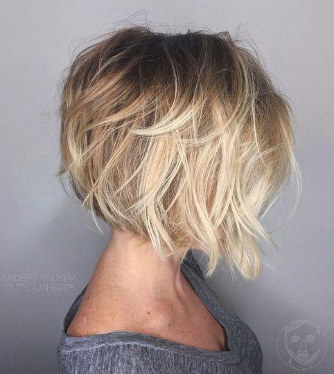 Layered Blonde Bob Hairstyle