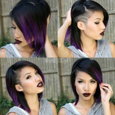 medium haircut for girls with temple undercut