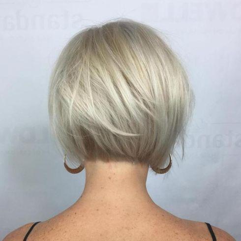 Very Short Blonde Bob For Fine Hair