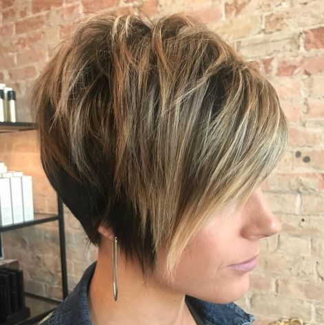 Layered Pixie Bob For Straight Hair
