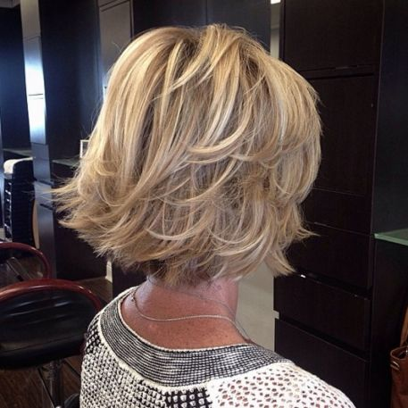 Flicked Blonde Bob Hairstyle