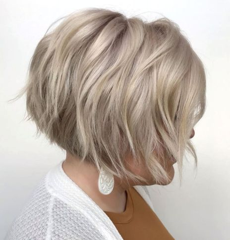 Stacked Razored Bob With Bangs